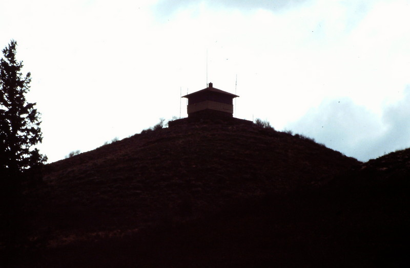 Danskin Peak fire lookout.