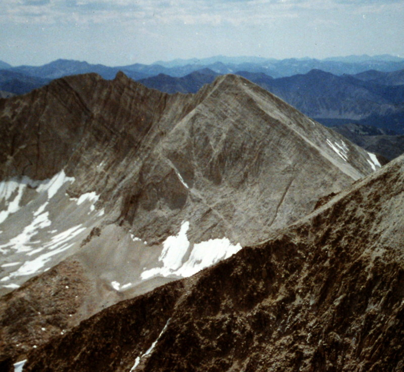 D.O. Lee Peak viewed from Caulkens Peak.