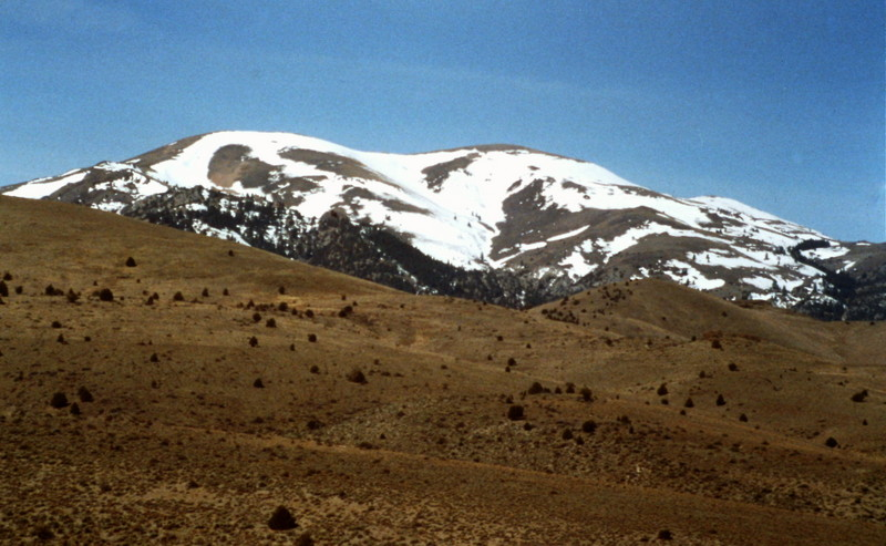 Quicksilver Mountain from the north.