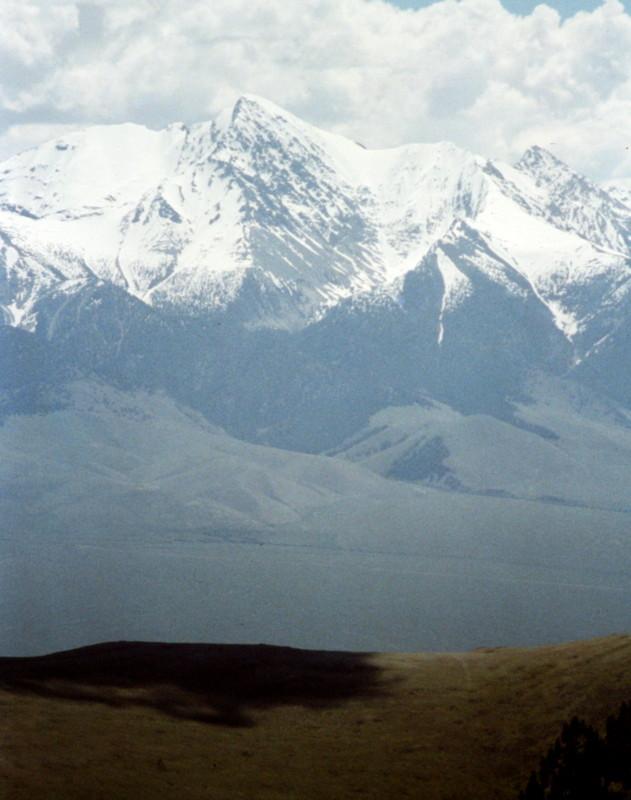 Mount Borah from Anderson Peak.