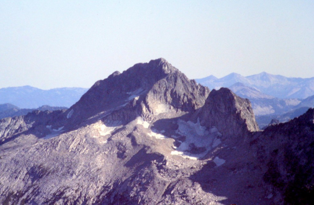 Snowyside Peak viewed from Mount Cramer.