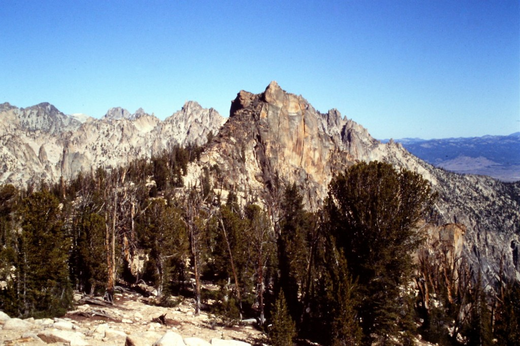 The west summit of the Elephants Perch from the east summit.