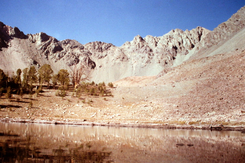 Silver Lake, the jumping off point to reach the south ridge.