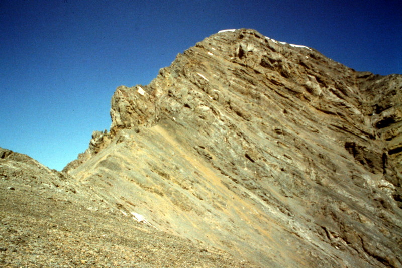 The south ridge of Leatherman Peak viewed from the saddle between it and Bad Rock Peak.