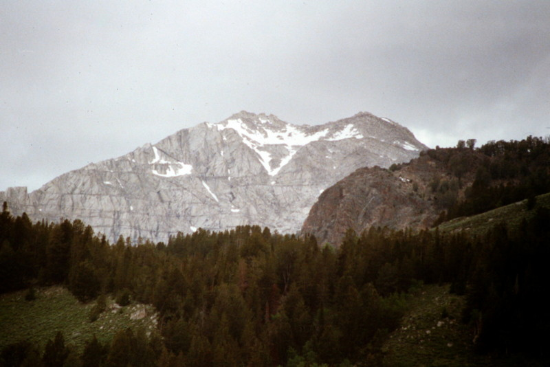 Pyramid Peak viewed from Copper Basin.
