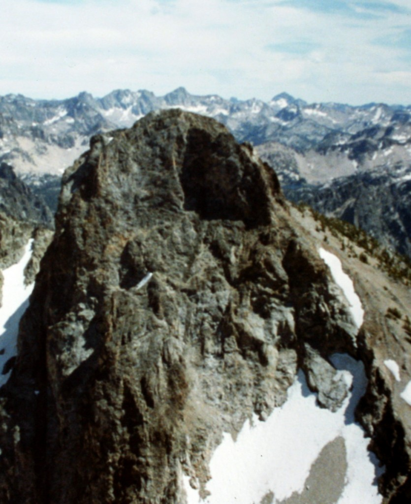 Baron Peak's north face viewed from Peak 10330 (Moolak Peak).