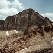 The western face of Mount Cramer viewed from Cramer Pass.