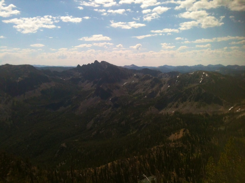 Pinnacles Peak from the summit of Coin Mountain.