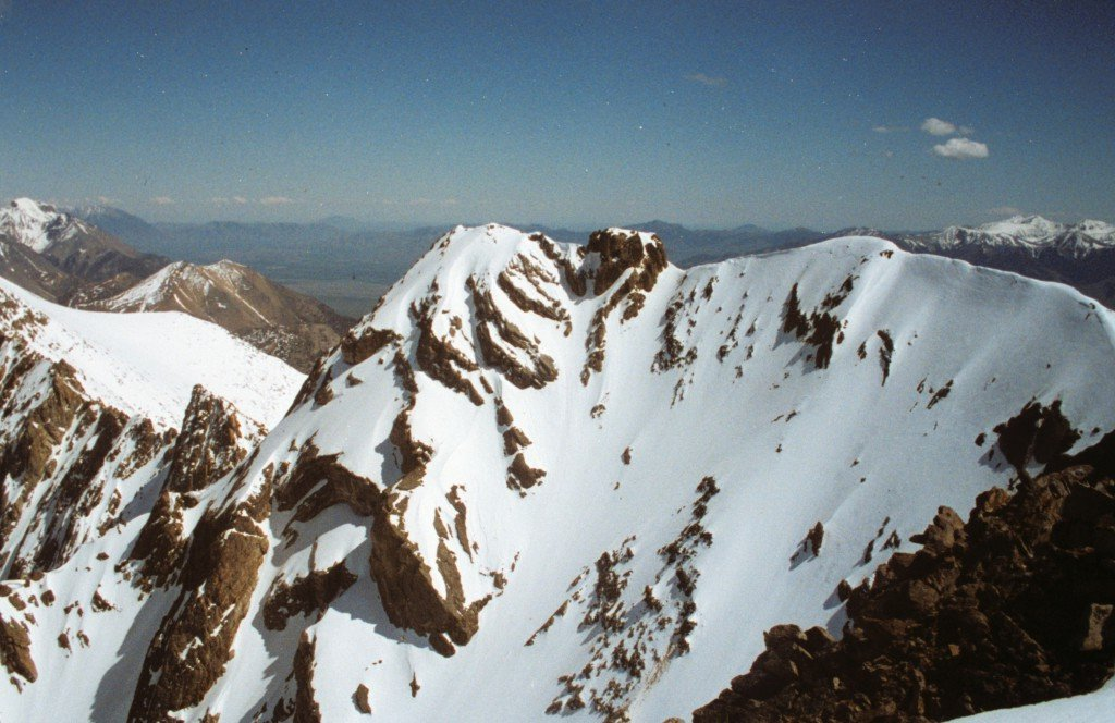 The equally impressive south summit of Peak 11967 viewed from the true, north summit.