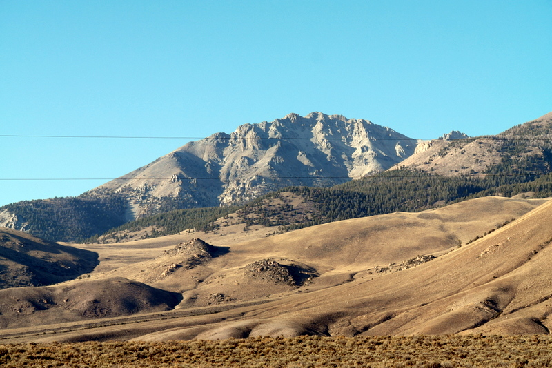 Mount Morrison from US-93 at Lone Cedar Creek.