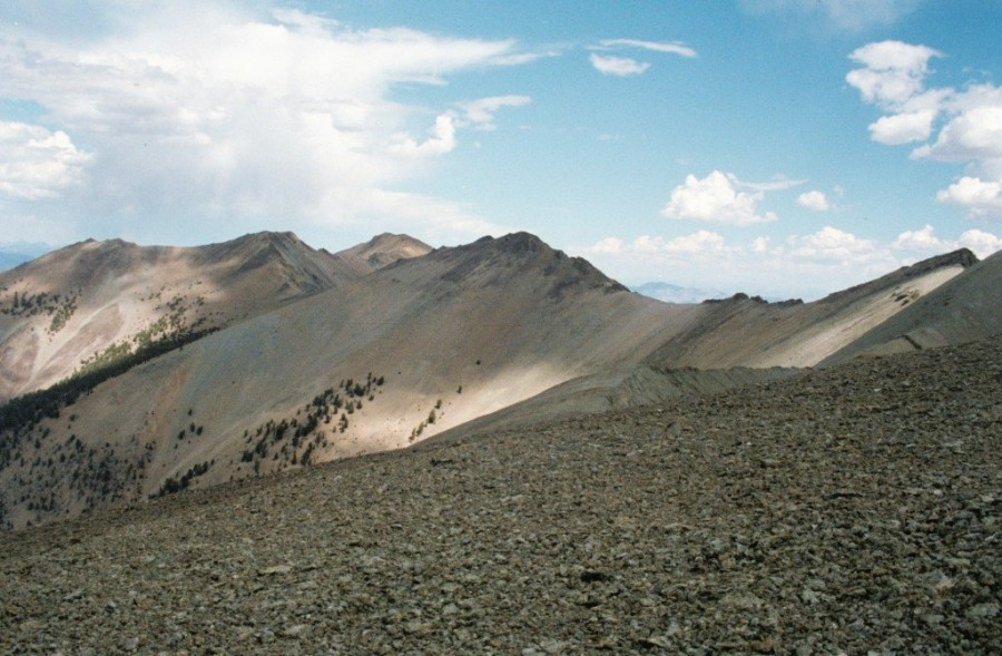 Sheep Mountain from Bowery Peak.