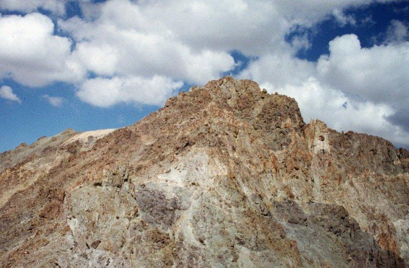 Silver Peak summit from its south ridge.