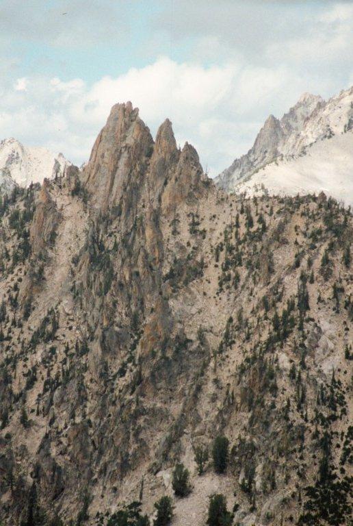 Ed-Da-How Spire from Pass above Alpine Lake.
