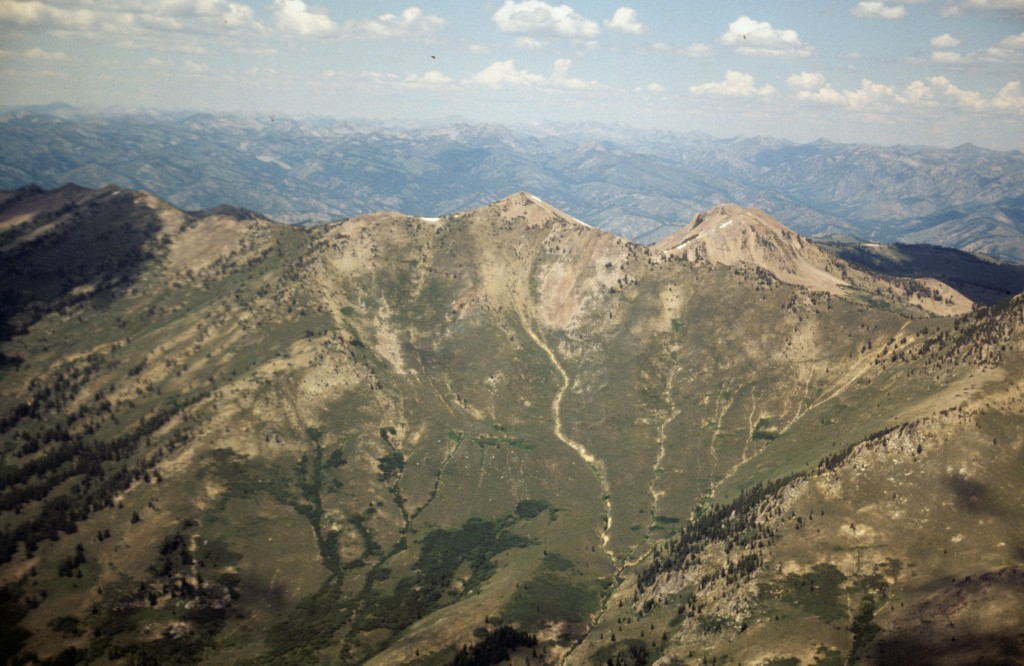 Smokey Dome from the air.