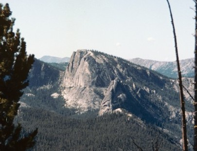 Sugar Loaf viewed from the trail into the Bighorn Crags.