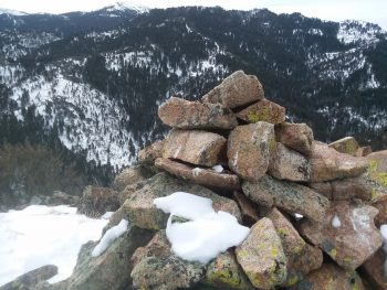Sugar Loaf summit cairn. Brett Sergenian Photo