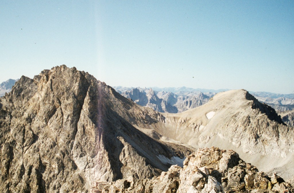Thompson Peak (right) and Carter (left) from Williams Peak.