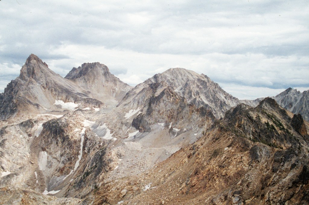 Thompson Peak, Mickeys Spire and Mount Carter from Merritt Peak.