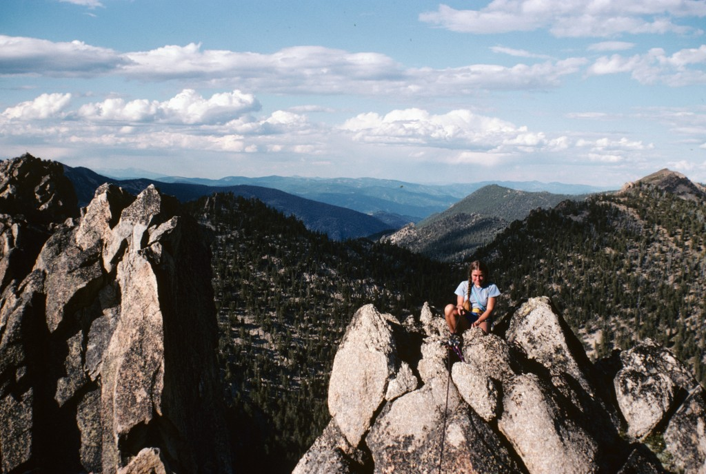 Dana Hansen on top of Cathedral Rock in 1984.
