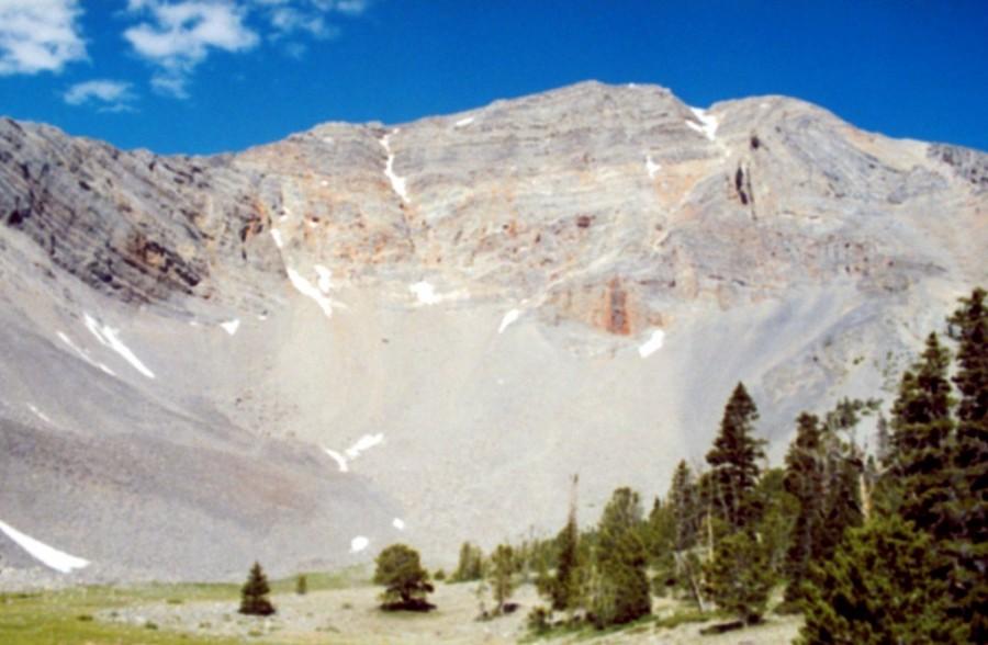 Trinity Peak from Christian Gulch.