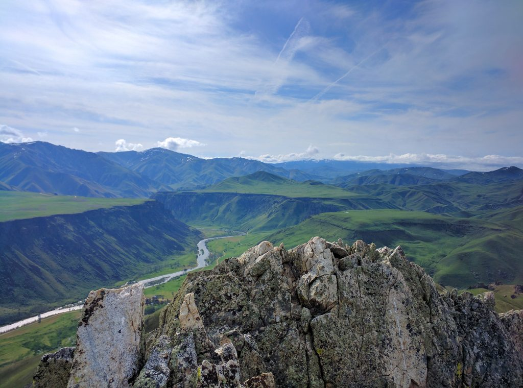 Cathedral Rocks summit view looking south. Erik Pohlmann Photo