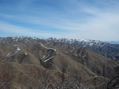 Looking north to Heinen Peak from the summit.