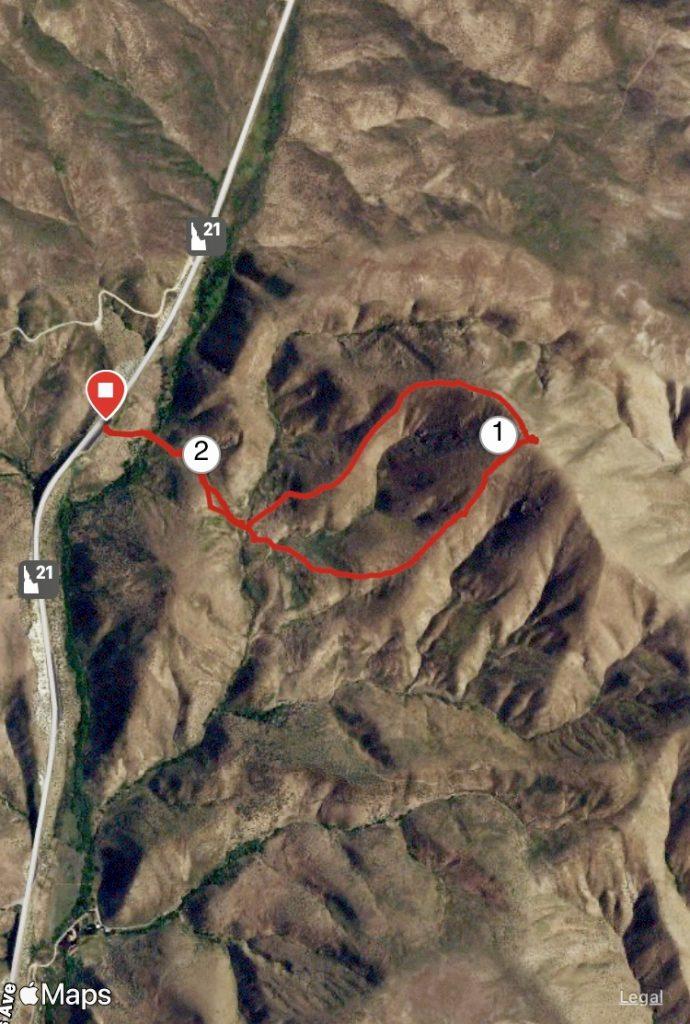 Loop route of Kodiak Peak. Margo Mandella track.