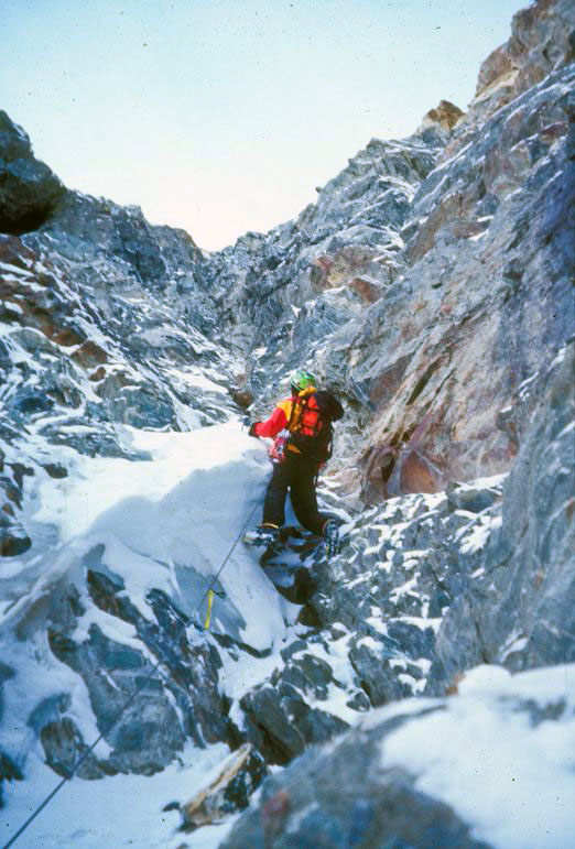Climbing Borah, Borah, Borah. October 2004. Photo - Tim Ball