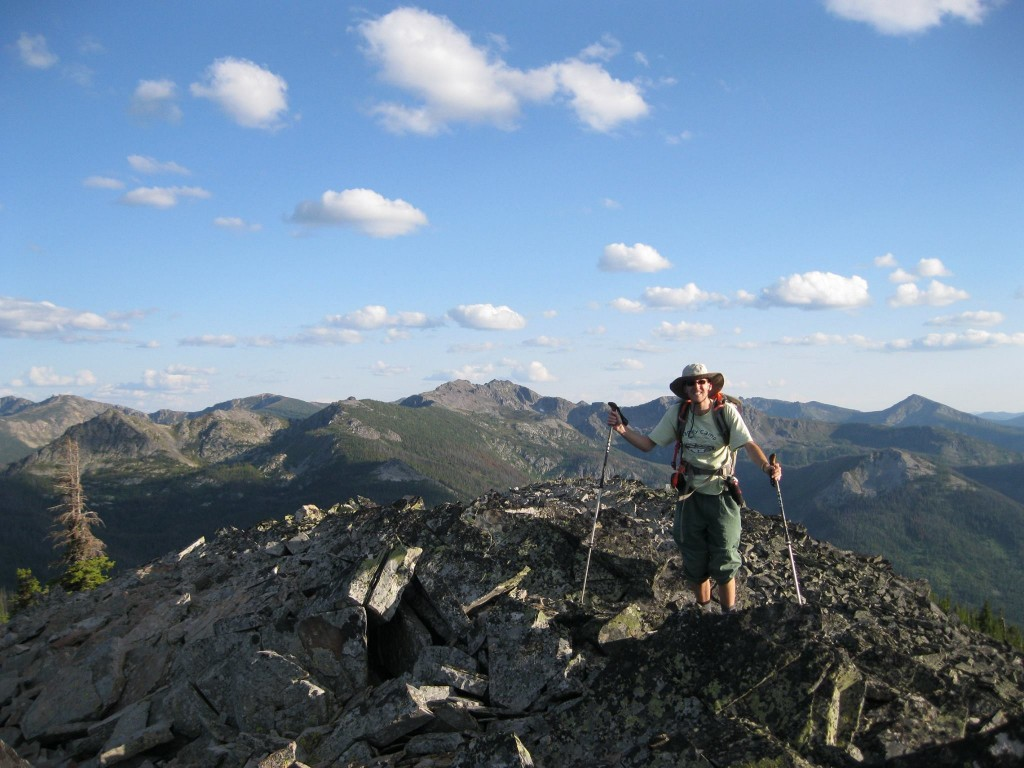Dan Saxton on the summit of Peak 6927. Dan Saxton Photo