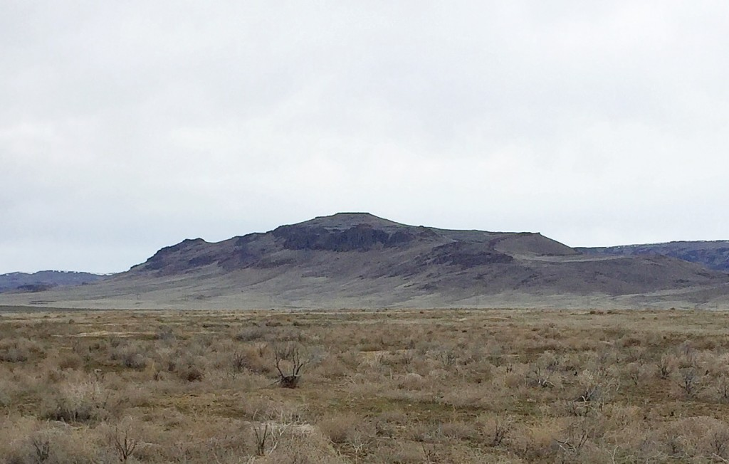 Teapot Dome from the southeast. This is the view that travelers along the Oregon Trail would have enjoyed.
