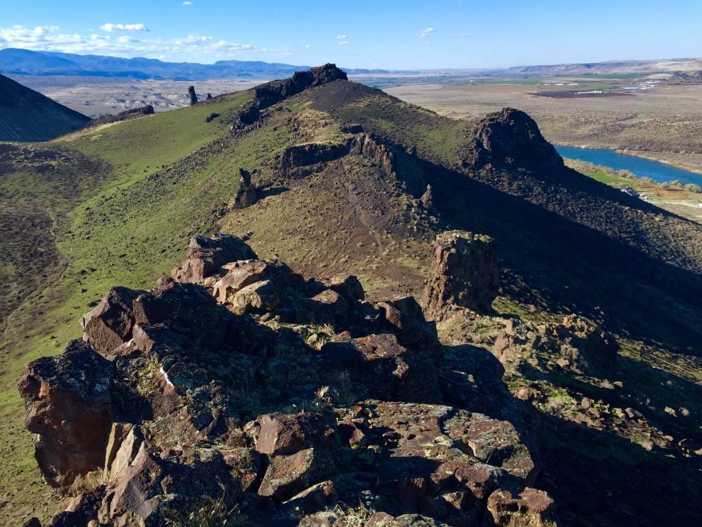 Volcanic ridge 1/2 way to the summit. Dan Krueger Photo