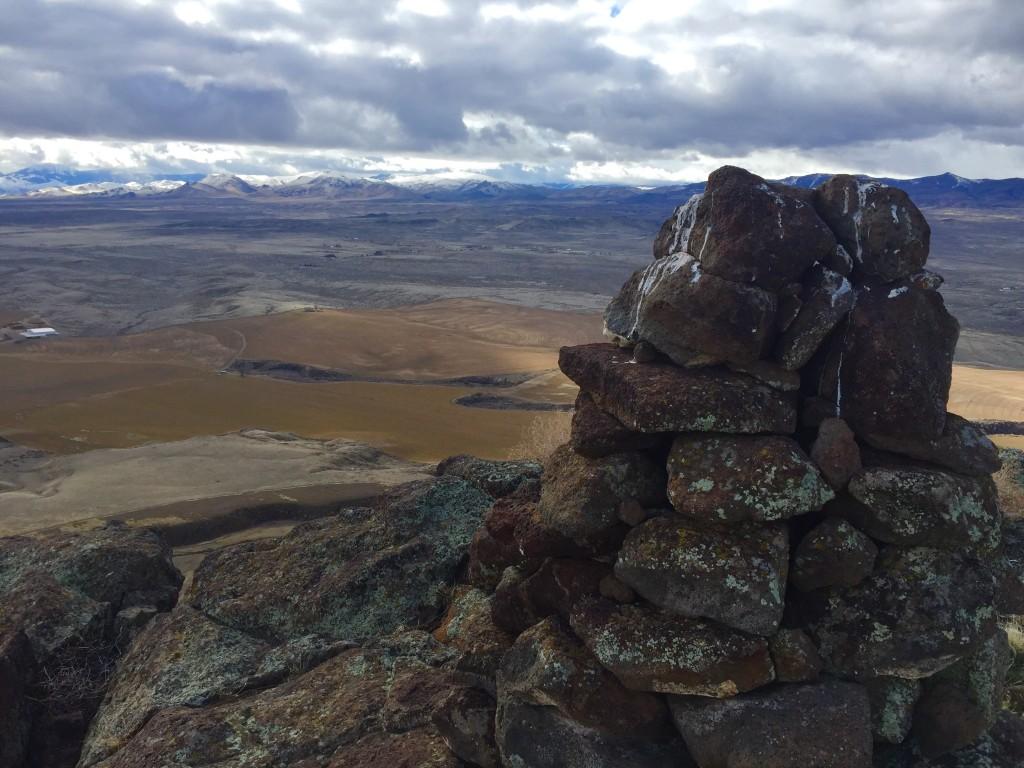Summit cairn, facing south. Dan Krueger Photo