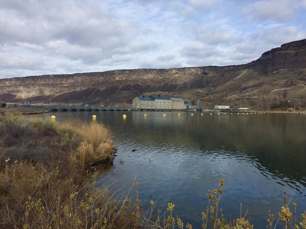 Looking back at Swan Falls Dam from near the beginning of the climb. Dan Krueger Photo