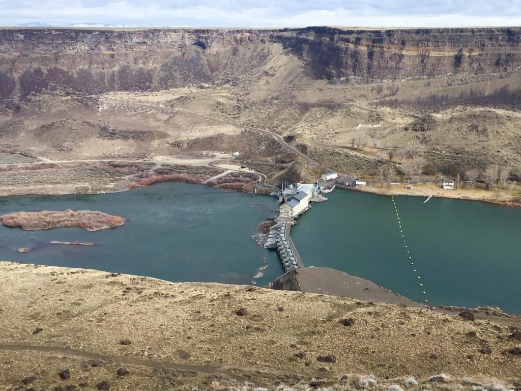 Looking back at the dam. Dan Krueger Photo