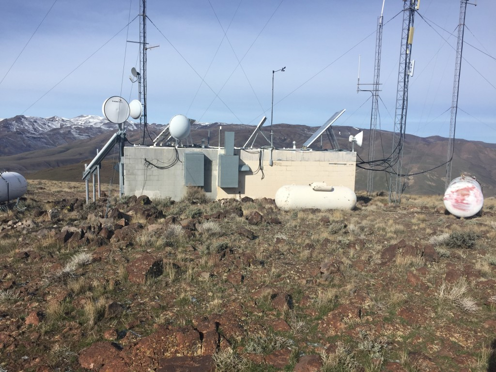 The communications equipment on the summit does not tract from the great views from the summit.