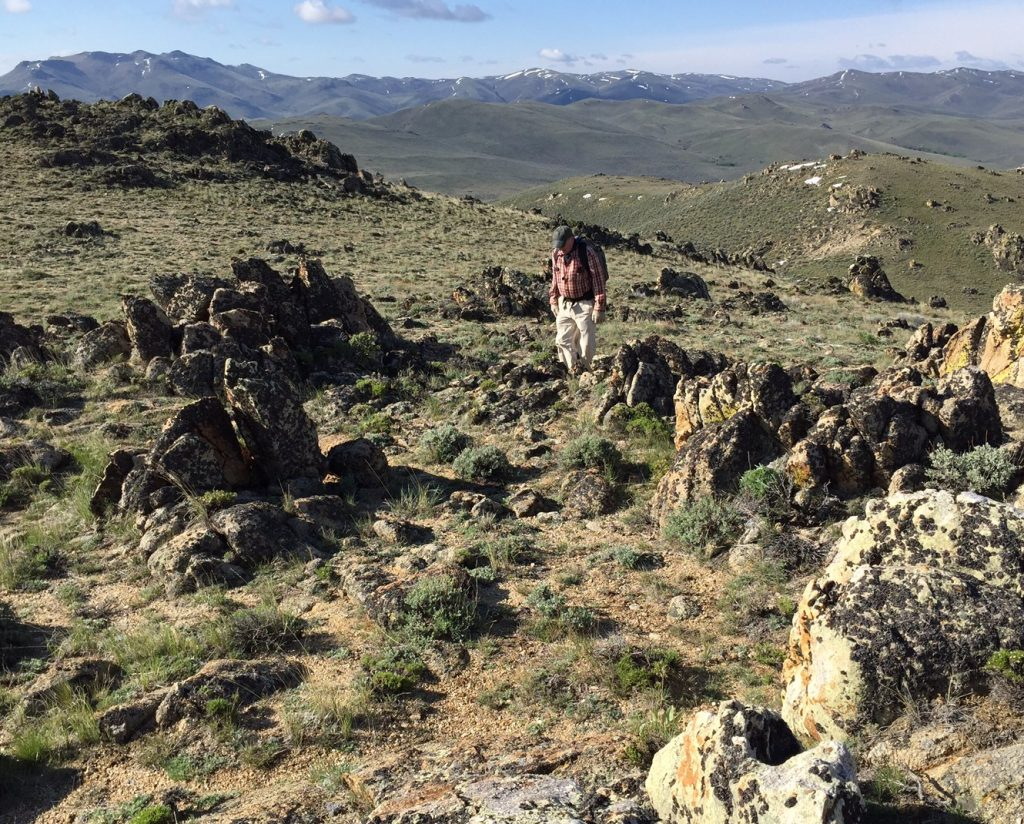 Jon Fredland nearing the summit.