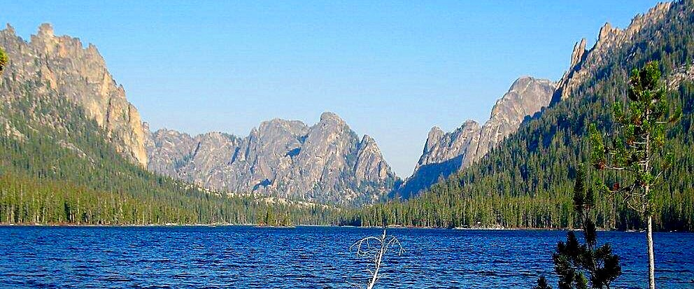 A lake level view of the Litner Group. USFS photo