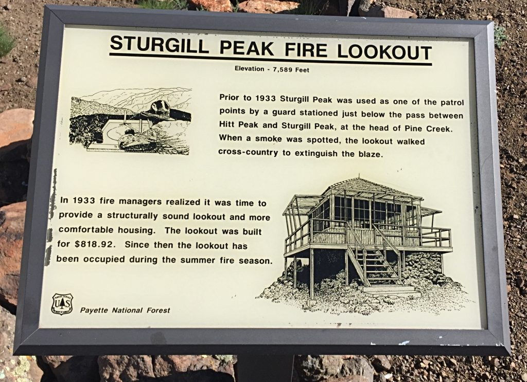 The history of the lookout is found on a sign near the structure.