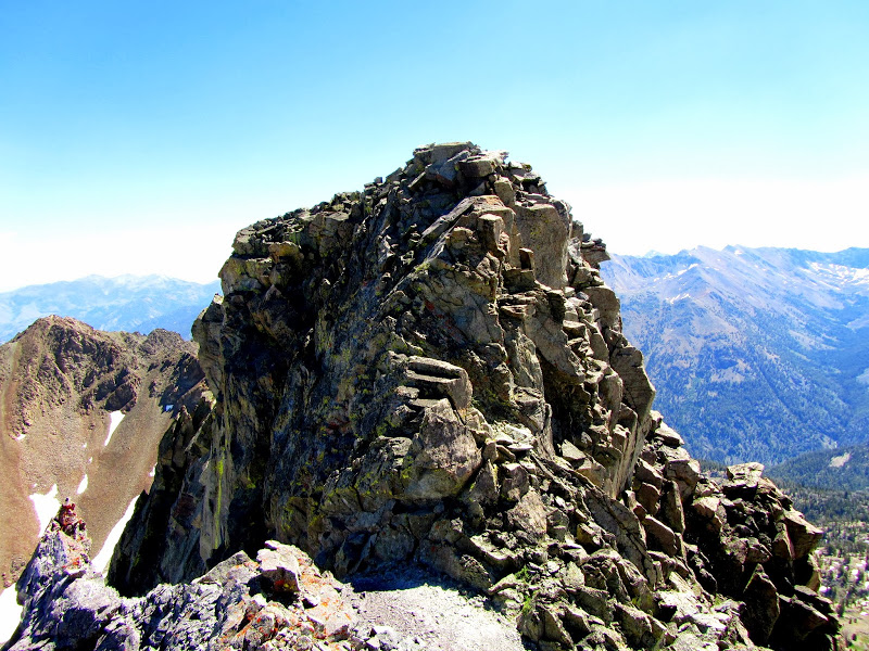 Peak 10835's summit block. George Reinier Photo