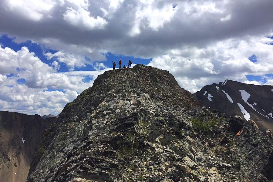 The airy summit of Senate Peak.