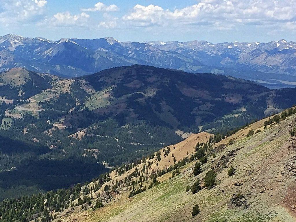 Avalanche Peak from Senate Peak.