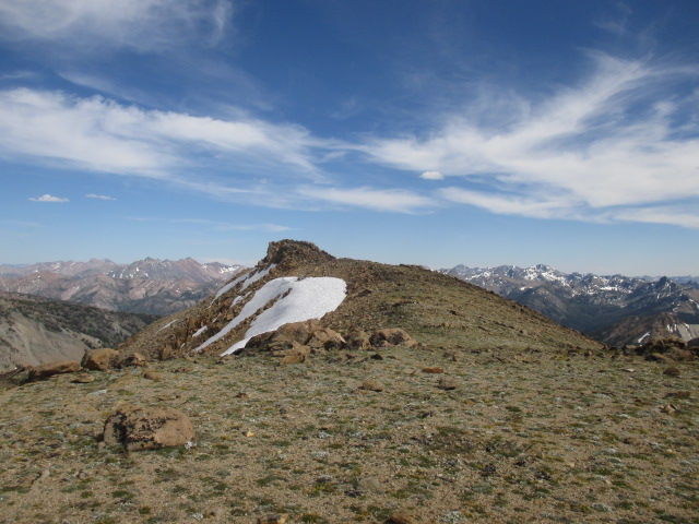 The summit of Fourth of July Peak. Tom Cox Photo