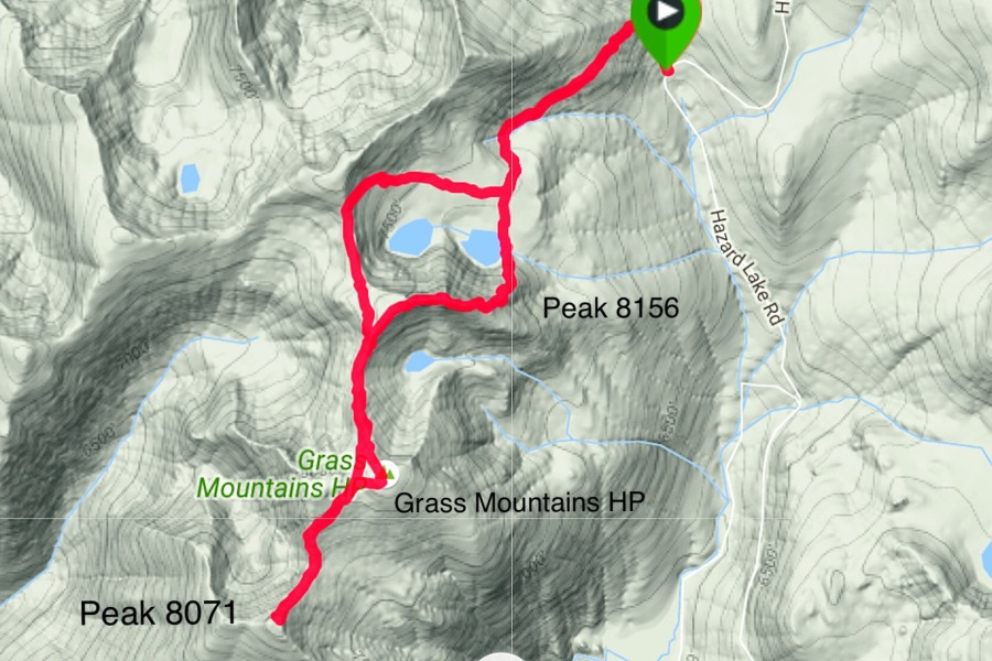 My GPS track for a three peak day.