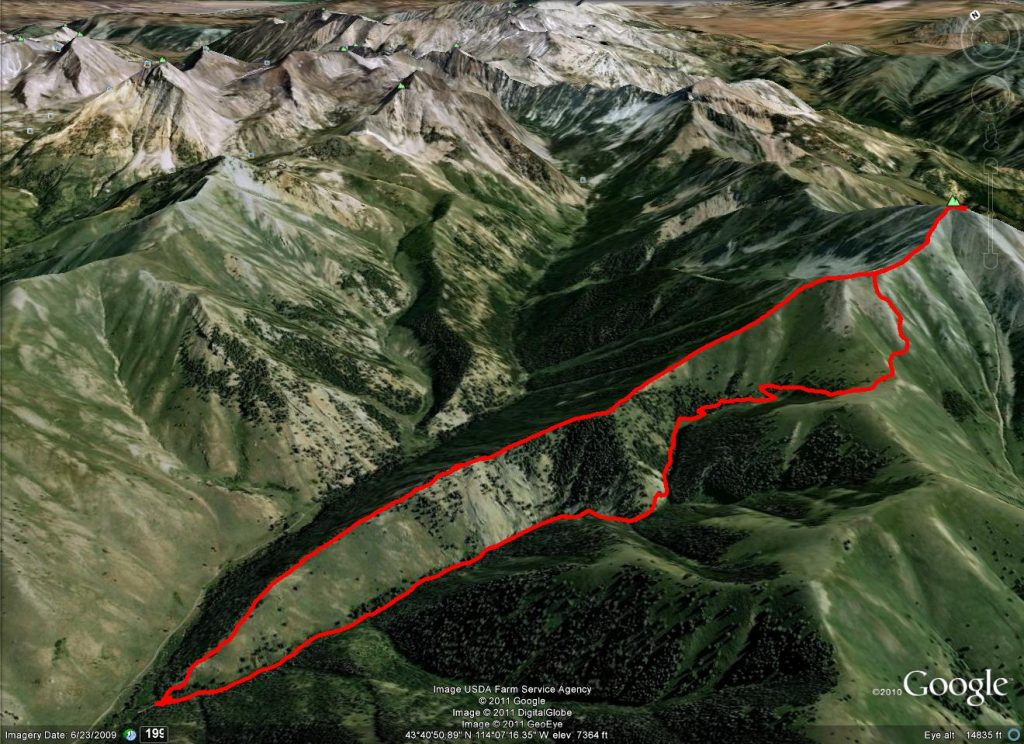 Margo Mandella's GPS track.