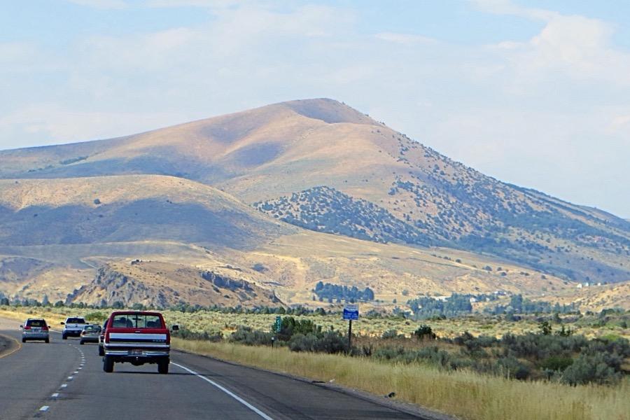 Inkom Peak from the south along I-15. Steve Mandella Photo