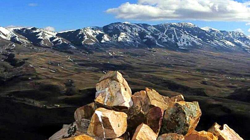Looking toward Bonneville Peak and the Portneuf Range from the summit of Inkon Peak. Mandella Photo