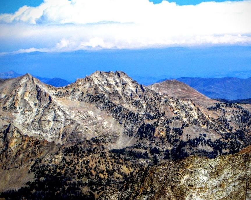 Boulder Lake Peak viewed from The Box. George Reinier Photo