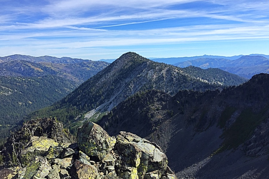 Echols Peak from Purgatory Peak.