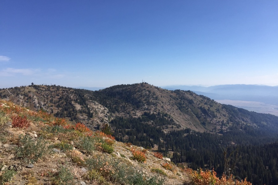 The higher eastern summit viewed from Granite Peak.