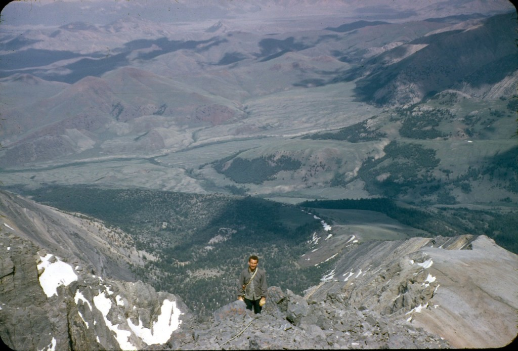 Art Barnes on the east face of Mount Borah. Lyman Dye Photo